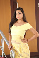 Shipra gaur in V Neck short Yellow Dress ~  051.JPG
