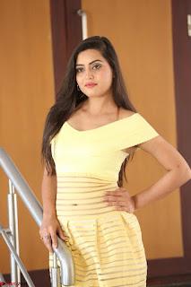 Shipra gaur in V Neck short Yellow Dress ~  051.JPG