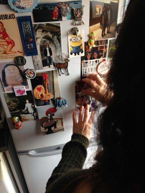fotografias no frigorifico