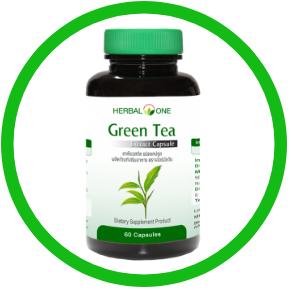 boite d'extrait de thé vert