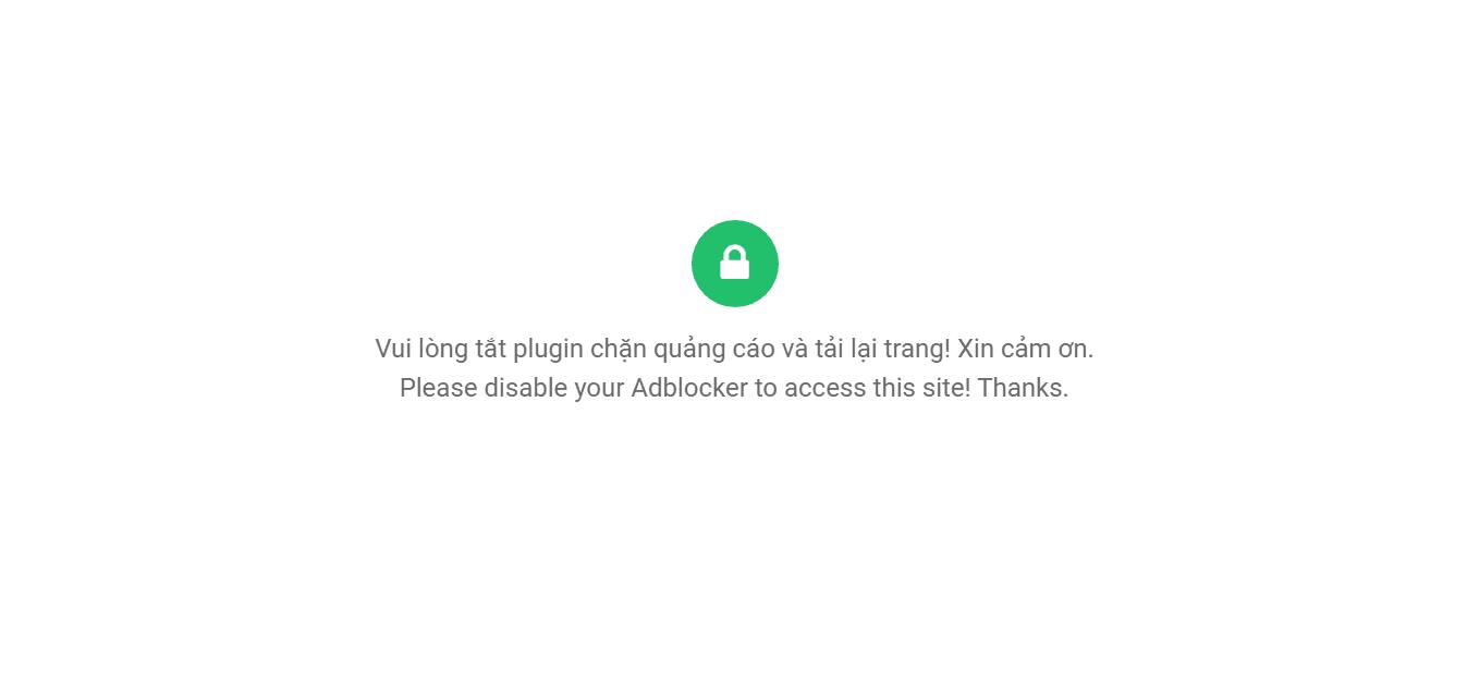 Phát hiện plugin chặn quảng cáo trình duyệt khi khách truy cập Blog