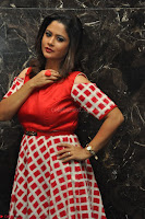 Shilpa Chakravarthy looks super cute in Red Frock style Dress 006.JPG
