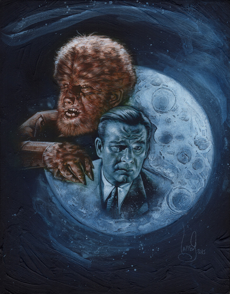 Lon Chaney jr. Wolfman, Artwork is Copyright © 2015 Jeff Lafferty