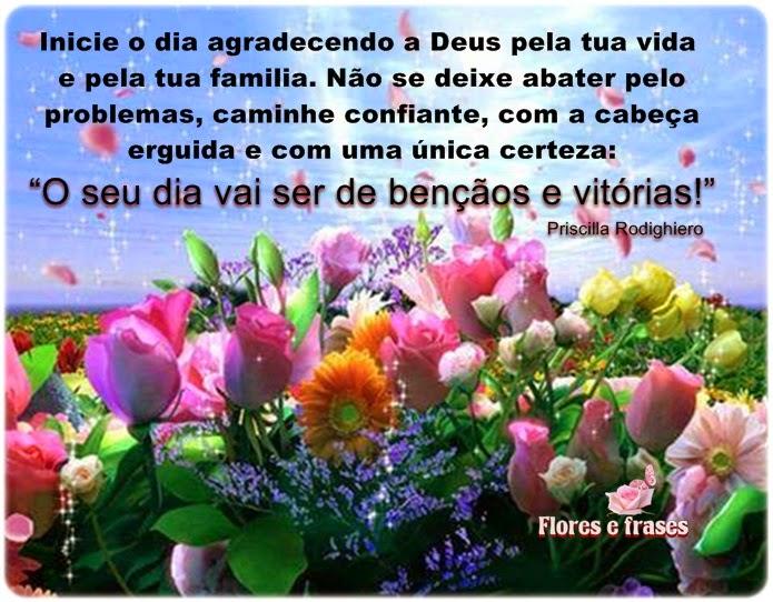Mensagens De Bom Dia Flores: Flores E Frases: INICIE O DIA AGRADECENDO