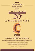 La JOG participa al Concert del 20è Aniversari del Cor de la Universitat de Girona