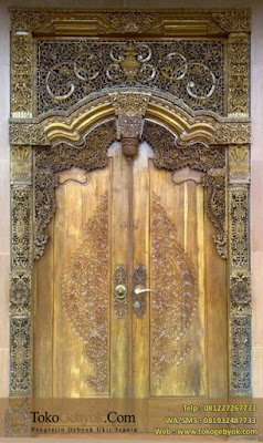 Kusen Pintu Gebyok Jati Ukir Jepara 1