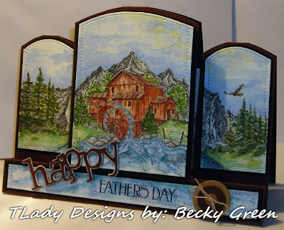 ODBD Living Water, ODBD Keep Climbing, ODBD Father's Day, ODBD Customer Card of the Day by Becky Green aka TLady Designs