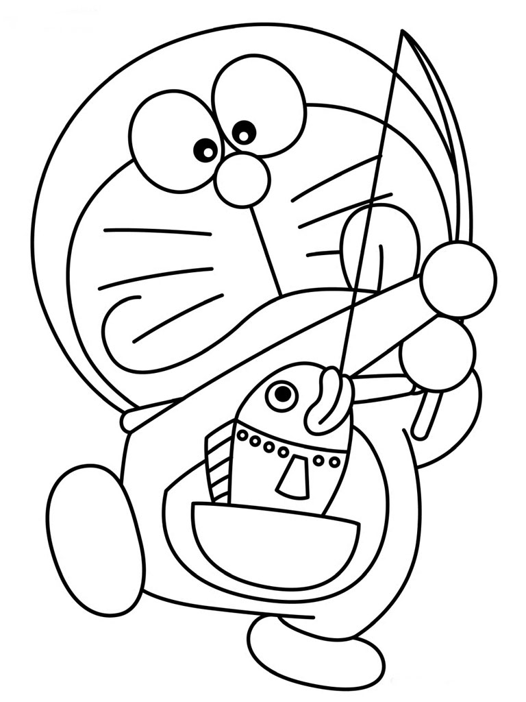Doraemon Coloring Pages Realistic Coloring Pages