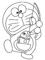 Doraemon fishing printable coloring pages for kids