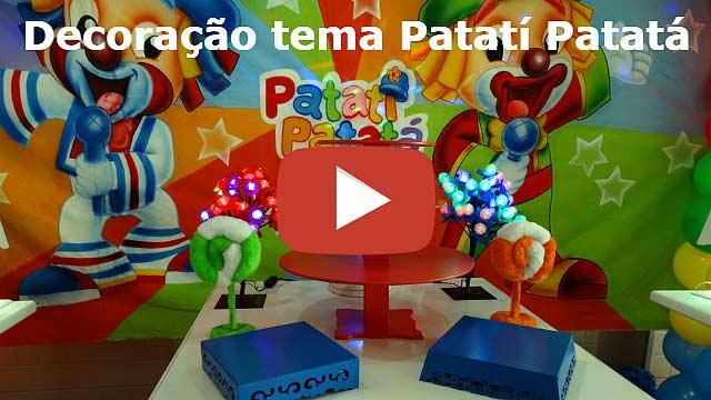 Vídeo decoração de aniversário Patatí Patatá