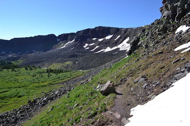 trail down the lesser cliffs