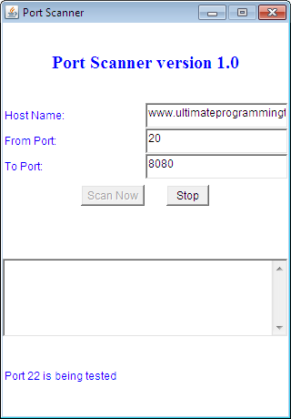 Java Port Scanner Full Source Code
