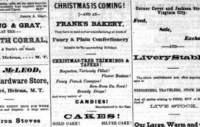 Ad in the Montana Post, December 9, 1865