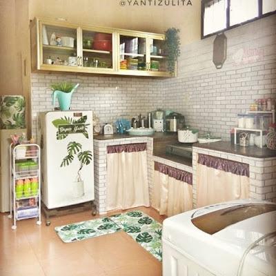 desain dapur dengan dinding yang bagus