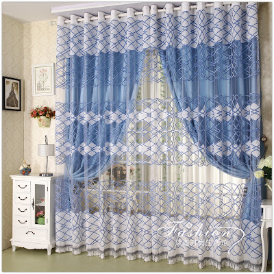 double window curtain designs for windows located side by side