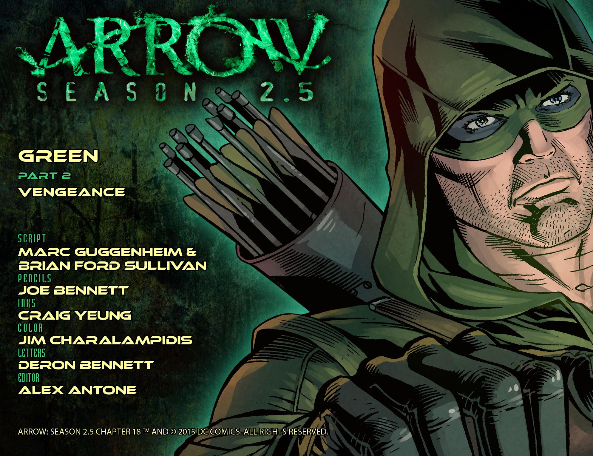 Read online Arrow: Season 2.5 [I] comic -  Issue #18 - 2