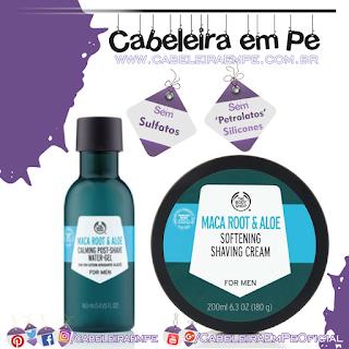 Creme de Barbear e Pós Barba Em Gel Maca Root & Aloe Vera - The Body Shop