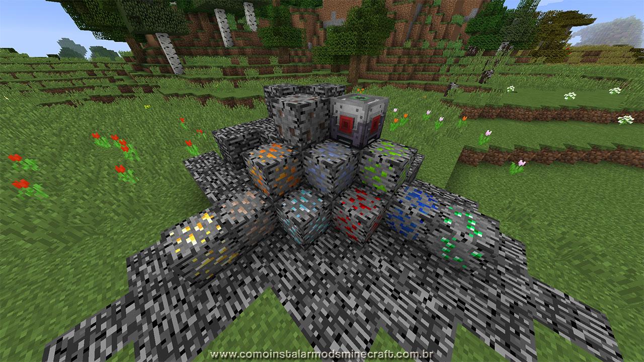 Bedrock Ores Mod 1.12.1   Como Instalar Mods No Minecraft ...