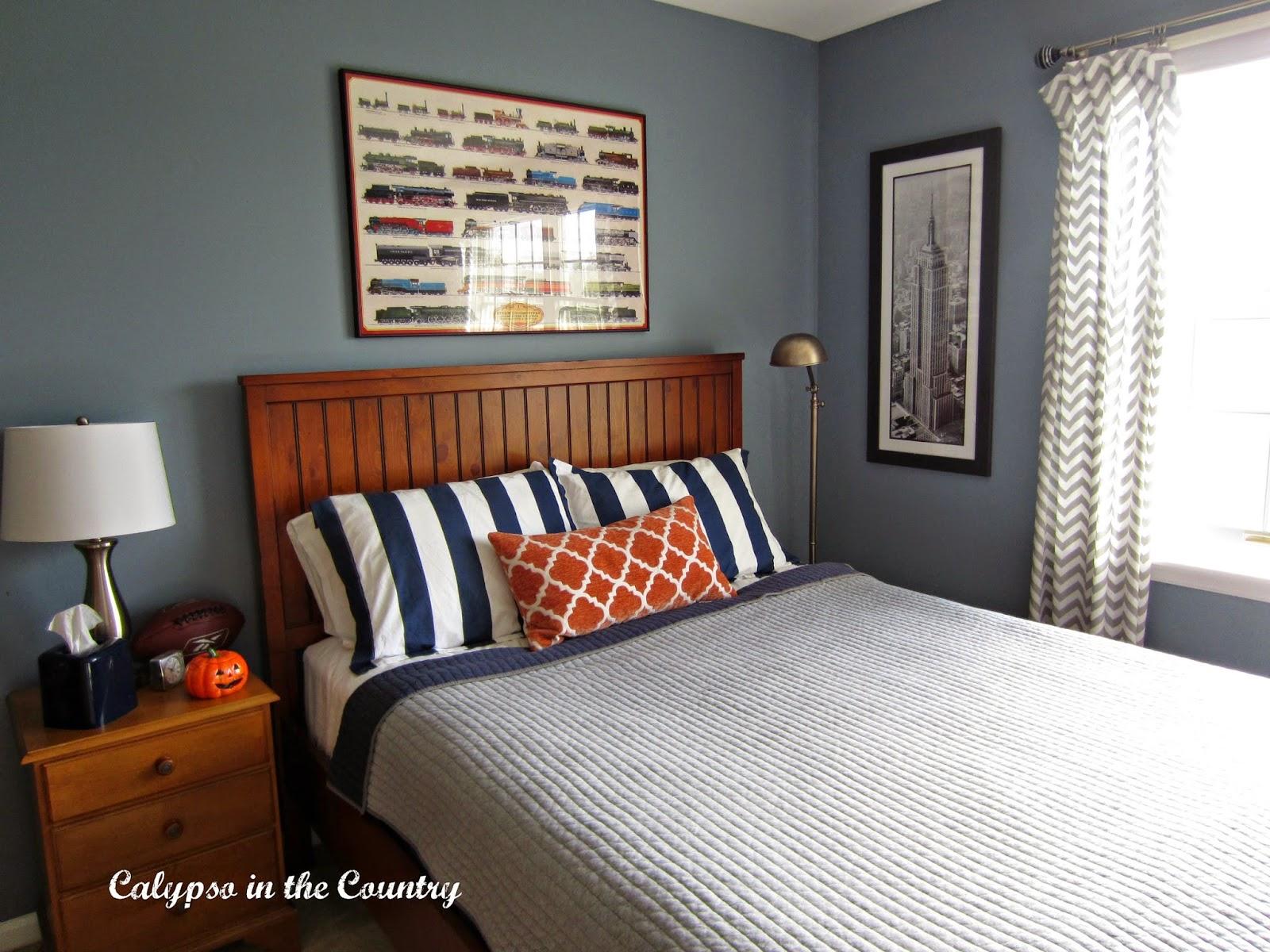 calypso in the country orange in the bedroom