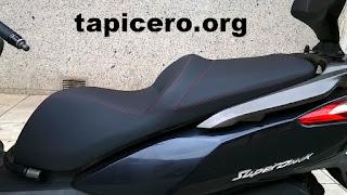 Tapizado de asiento de moto Kymco Superdink