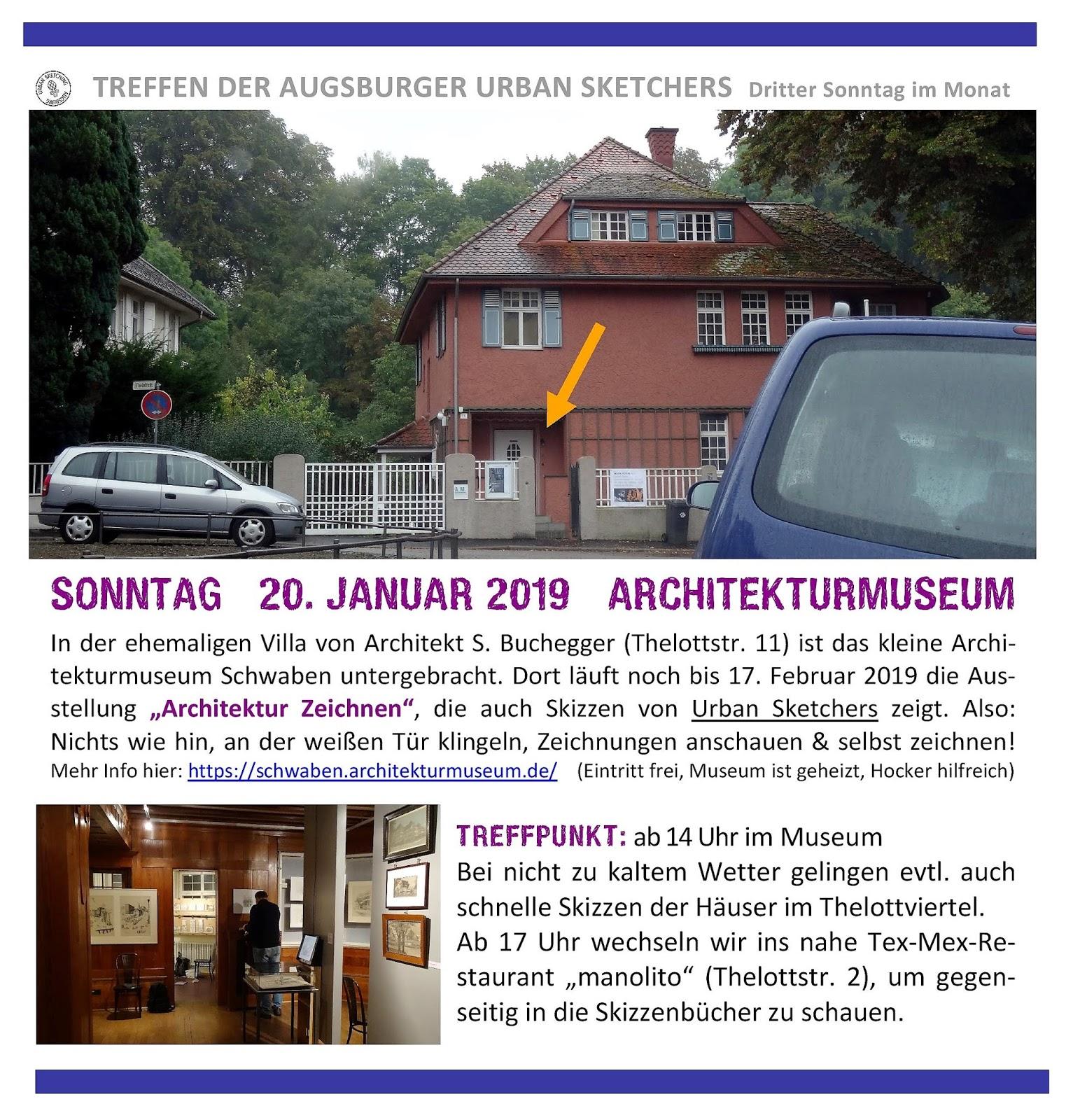 Urban Sketchers Augsburg Zeichnen Im Architekturmuseum Schwaben