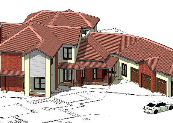 Contoh 3d Pelan skematik rumah banglo