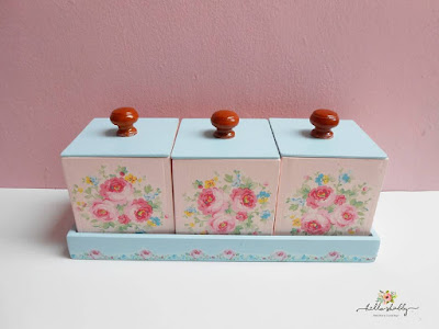 toples set shabby chic blue pink ~ hello shabby