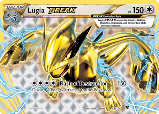 Lugia BREAK Fates Collide Pokemon Card