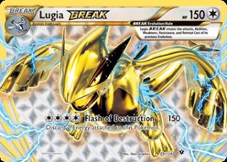 Lugia BREAK Fates Collide Pokemon Card