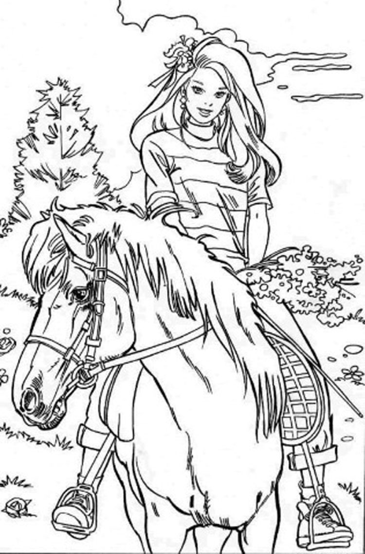 free online barbie coloring pages - photo#30