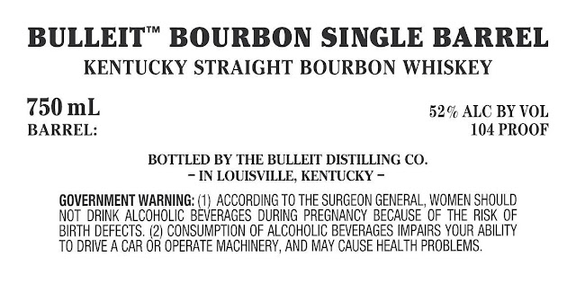 Bulleit Bourbon Single Barrel Kentucky Straight Bourbon Whiskey