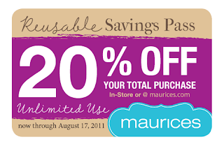 maurices coupons printable deals and steals maurices 20 total purchase pass 23589 | Maurices