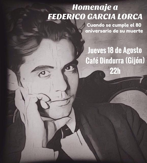 HOMENAJE A LORCA EN LA CAFETERÍA DINDURRA Gijón