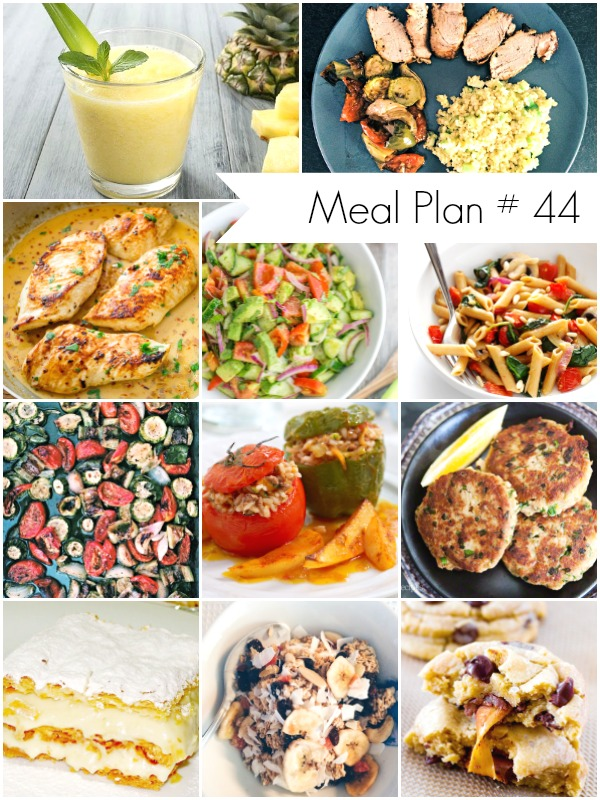 Weekly Meal Plan - Delicious Recipes for the whole family