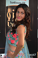Amyra Dastur in Flower Print Choli Transparent Chunni at IIFA Utsavam Awards 04.JPG