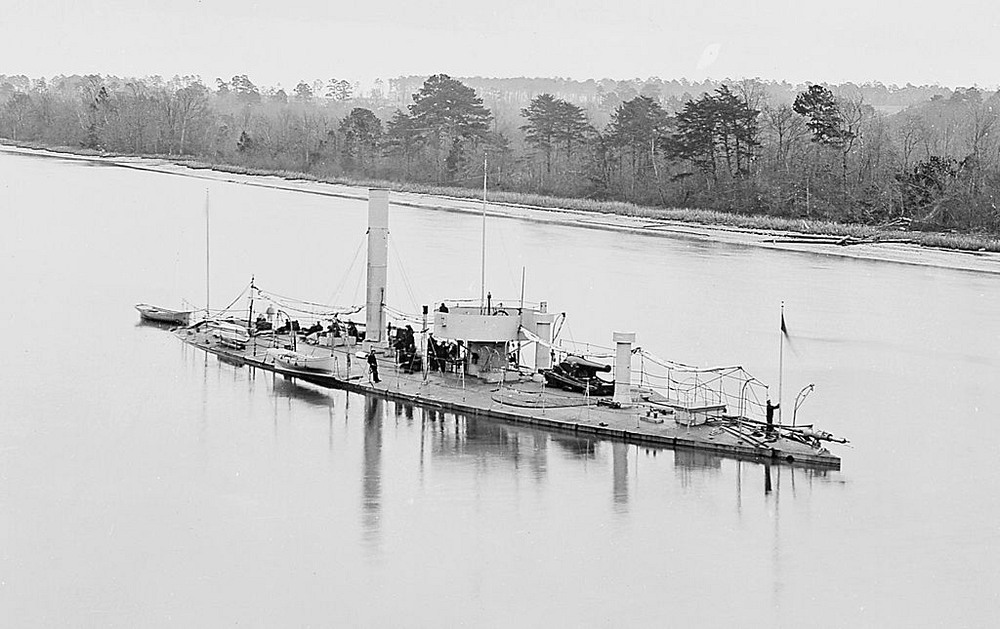 the USS Casco on the James River,