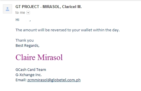 Rant: Globe Gcash Amex Refund takes too long [Refunded!]