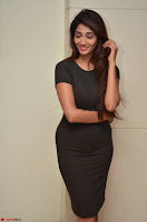 Priya Vadlamani super cute in tight brown dress at Stone Media Films production No 1 movie announcement 011.jpg