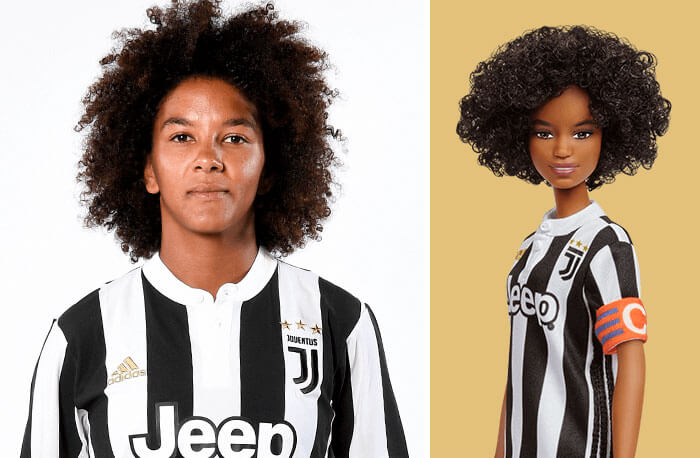Barbie Introduces 17 New Dolls Based On Inspirational Women Such As Frida Kahlo And Amelia Earhart - Sara Gama, Soccer Player