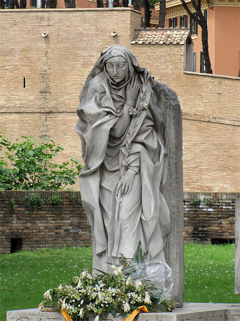 Monument to Catherine of Siena by Francesco Messina, Castel Sant'Angelo, Rome