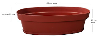 Oval Shape Planter for Garden