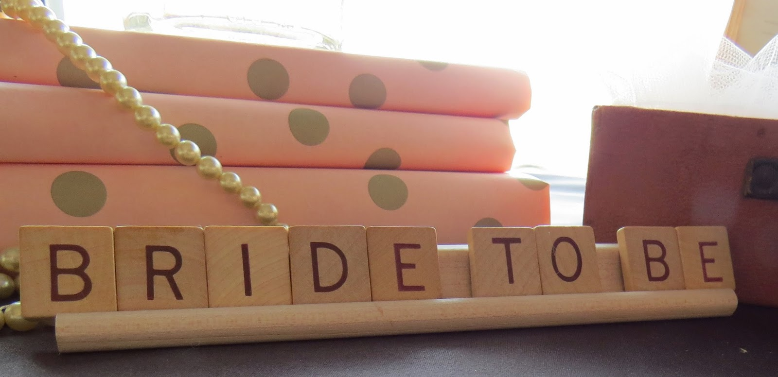 Wedding shower,Scrabble, Pearls, Blush, Polka Dot