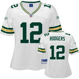 a64714a56e0b4 ... Aaron Rodgers Jersey, NFL Green Bay Packers 12 Womens White Jersey ...