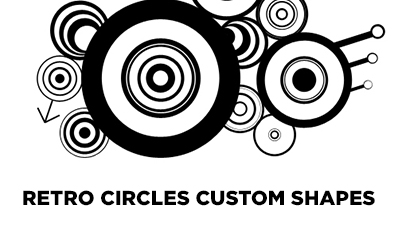 Retro Circles Custom Shapes