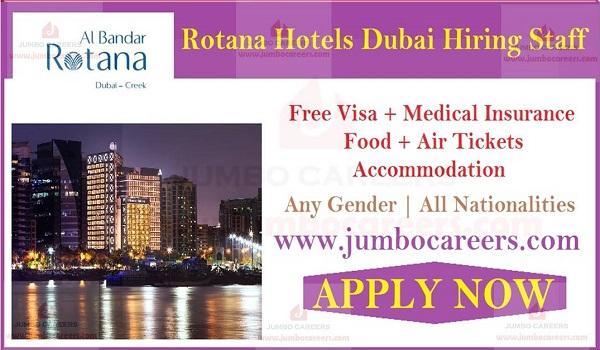 Hotel job vacancies in UAE, Five star hotel job openings in Dubai,