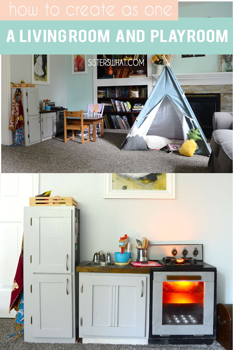 how to create as one a living room and play area