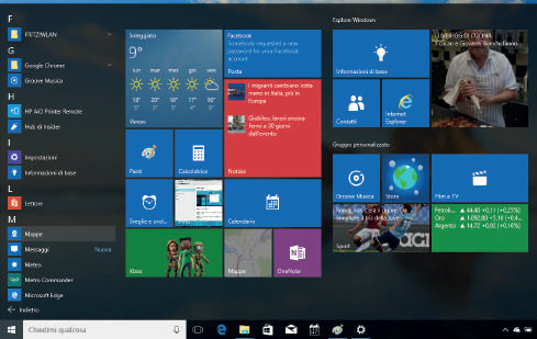 Come personalizzare elenco app menu start Windows 10