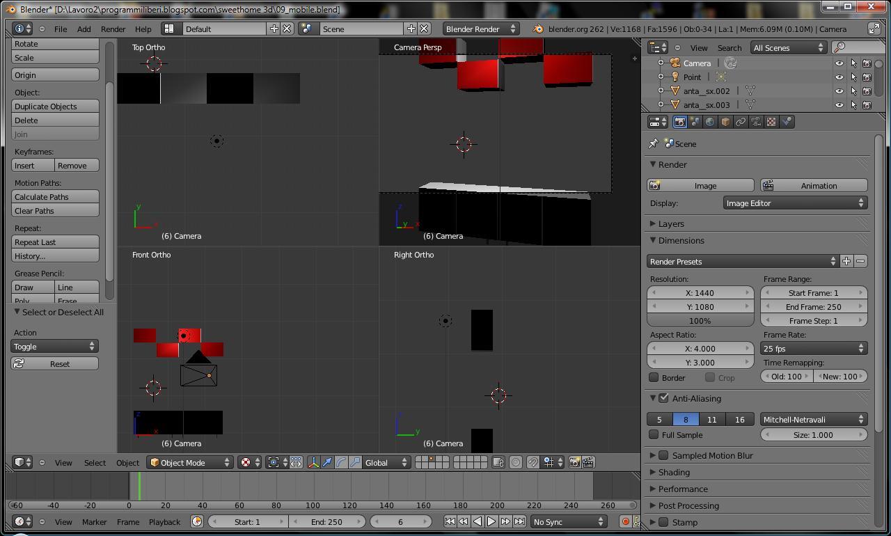 Prove di progettazione con sweethome 3d for Progettazione mobili 3d