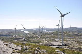 Ytre Vikna vindpark. Foto: Kommunikasjonsavdelingen NTFK, lisens CC BY 2.0