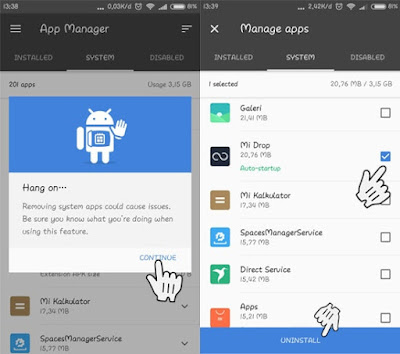 menghapus aplikasi bawaan android - feri tekno